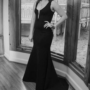 SALE Black BEBE Prom Dress mermaid style